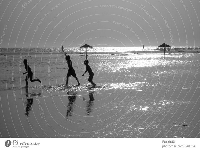 Kids of the sun Kind Jugendliche Wasser Ferien & Urlaub & Reisen Sonne Sommer Meer Strand Freude Spielen Junge Freiheit Küste Glück Horizont Zufriedenheit