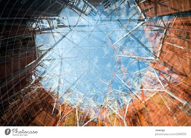 Pfusch am Bau Himmel Architektur Gebäude Stil Fassade außergewöhnlich groß hoch Perspektive Wandel & Veränderung Baustelle einzigartig Bauwerk chaotisch