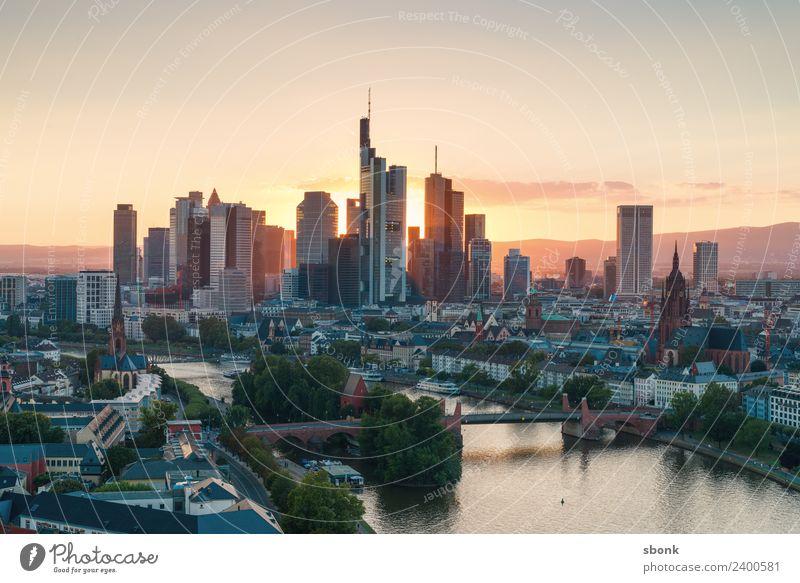 Frankfurt am Main Büro Business Stadt Stadtzentrum Skyline Hochhaus Bauwerk Gebäude Architektur Ferien & Urlaub & Reisen Großstadt Cityscape Panorama