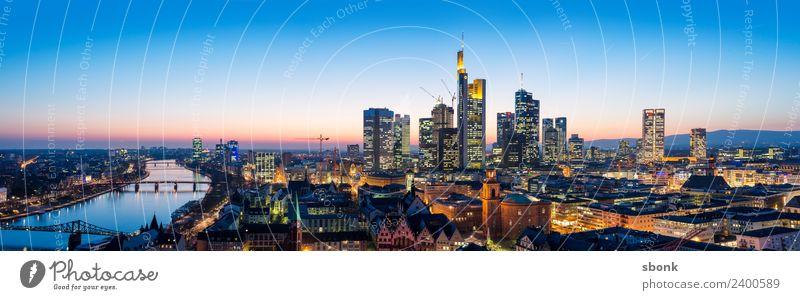 Frankfurt Panorama Business Frankfurt am Main Stadt Skyline Hochhaus Architektur Reichtum Ferien & Urlaub & Reisen Großstadt Cityscape Architecture Bank Finance