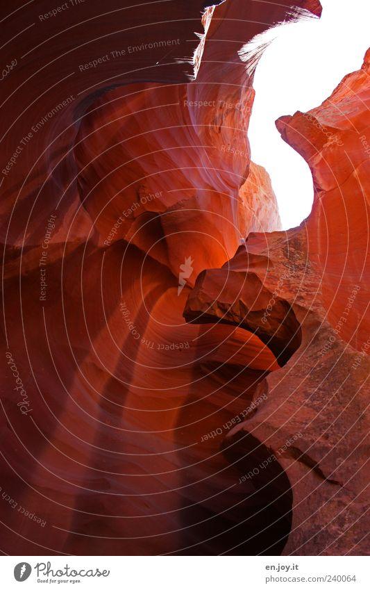 inside Natur Ferien & Urlaub & Reisen rot Landschaft braun Felsen Kraft außergewöhnlich Tourismus Urelemente USA Amerika Schlucht Höhle Landschaftsformen