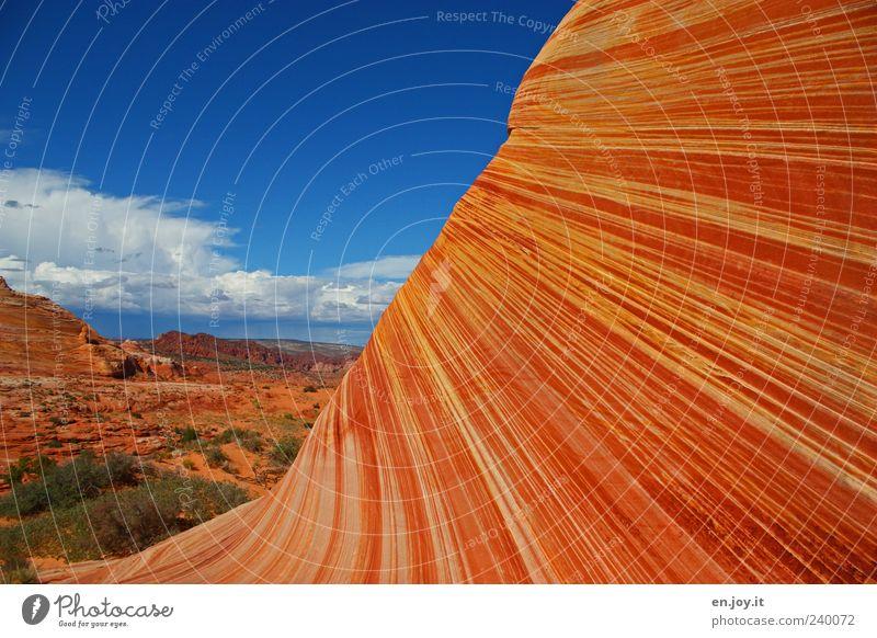 mind-blowing Natur Ferien & Urlaub & Reisen blau Farbe Landschaft Umwelt außergewöhnlich Felsen Erde orange Tourismus Klima Schönes Wetter einzigartig USA Wüste
