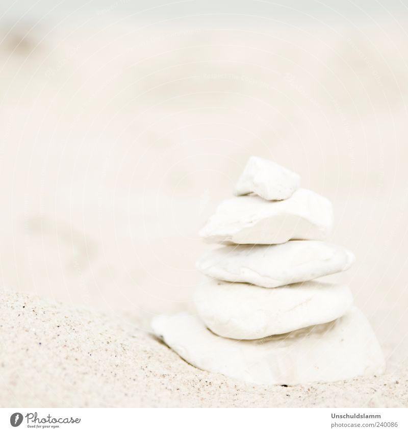 Milchsteine Natur weiß ruhig Strand Umwelt Stein Sand hell Zufriedenheit Dekoration & Verzierung ästhetisch Turm harmonisch Gleichgewicht bauen Stapel