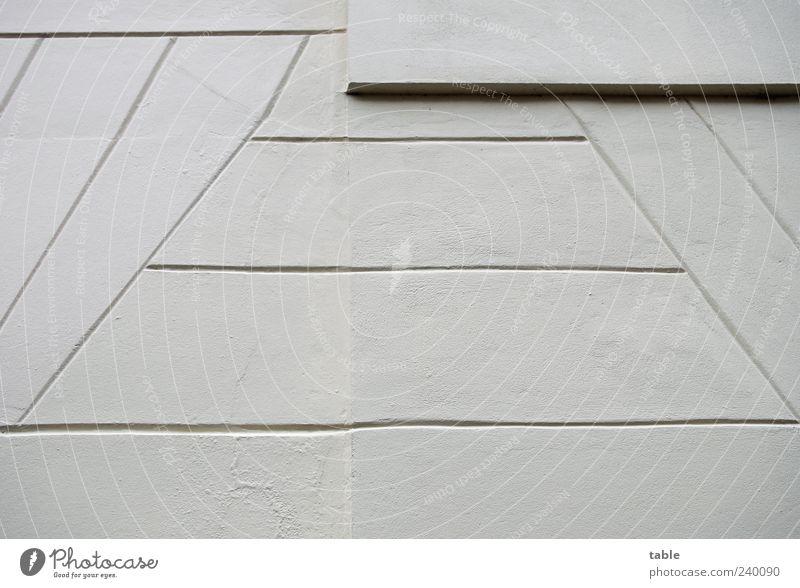 // lines \\ Bauwerk Gebäude Architektur Mauer Wand Fassade Stein Linie Streifen ästhetisch dünn eckig einfach grau schwarz Genauigkeit Ordnung Präzision