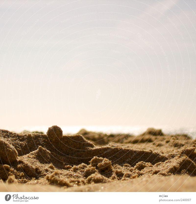 Sandstrand Erholung Ferien & Urlaub & Reisen Tourismus Ausflug Sommer Sommerurlaub Strand Natur Menschenleer glänzend Horizont Meer Farbfoto Außenaufnahme