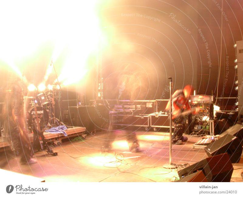rock Bühne live Open Air Menschengruppe Rockmusik Stage Musik