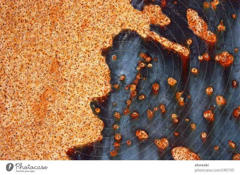 Rorschach rostig Metall Stahl Rost Punkt Strukturen & Formen Fleck alt Verfall Farbfoto Außenaufnahme abstrakt Muster Menschenleer Nahaufnahme Detailaufnahme