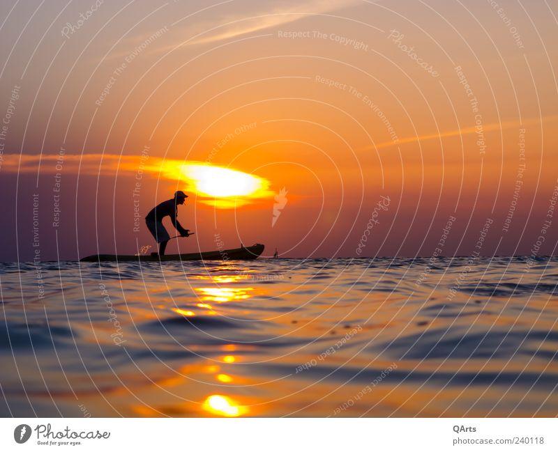 Sunset at the Split ruhig Freizeit & Hobby Kanu Kanusport Kanutour Kanuten Ferien & Urlaub & Reisen Tourismus Abenteuer Ferne Freiheit Sommer Sommerurlaub Sonne