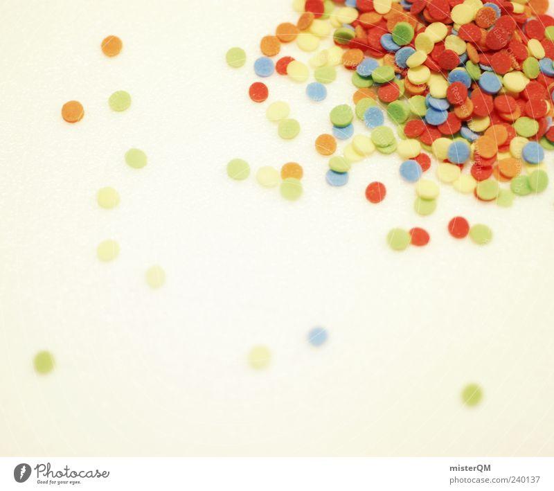 Streusel. ästhetisch Dekoration & Verzierung mehrfarbig Konfetti rot Kreativität rund Feste & Feiern viele Freude spaßig Farbfoto Gedeckte Farben Innenaufnahme