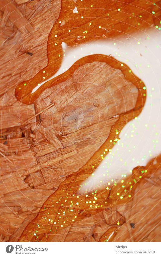 Seepferdchen-pfütze Holz Wasser nass Pfütze ausgelaufen verschütten Glitter Grobspanplatte Oberflächenspannung Strukturen & Formen Boden Verlauf Flüssigkeit