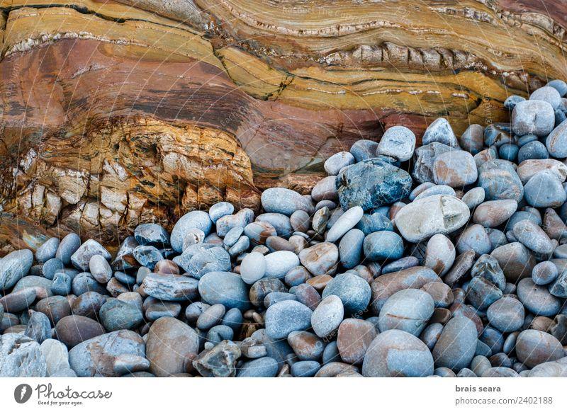 Sedimentäre Gesteinsstruktur Strand Meer Wissenschaften Geologie Geografie Geologen Umwelt Natur Erde Küste Sehenswürdigkeit Wahrzeichen Kieselsteine Stein Sand