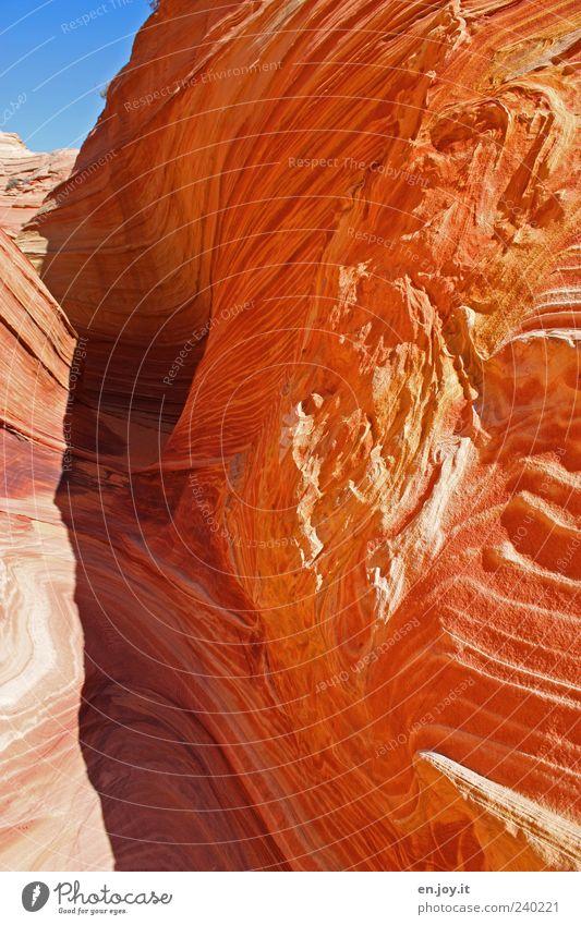 no passage Natur blau Ferien & Urlaub & Reisen schön rot Landschaft Stein braun Felsen außergewöhnlich Tourismus USA Amerika bizarr Utah Arizona