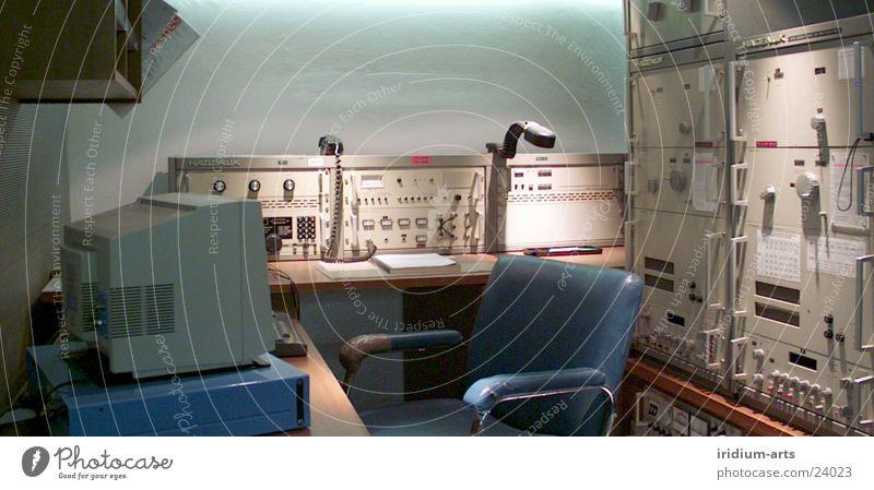 retro-dtp alt blau Computer Arbeit & Erwerbstätigkeit Stuhl Technik & Technologie Informationstechnologie Bildschirm Nostalgie Arbeitsplatz Ausstellung