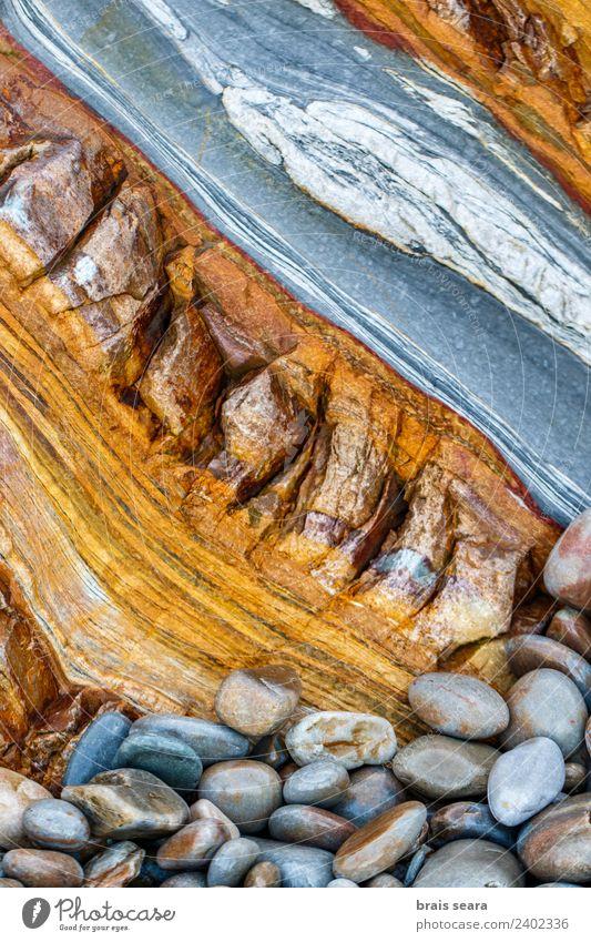 Sedimentäre Gesteinsstruktur Strand Meer Tapete Bildung Wissenschaften Geologie Beruf Geologen Umwelt Natur Erde Felsen Küste Stein Farbe silencio Playa