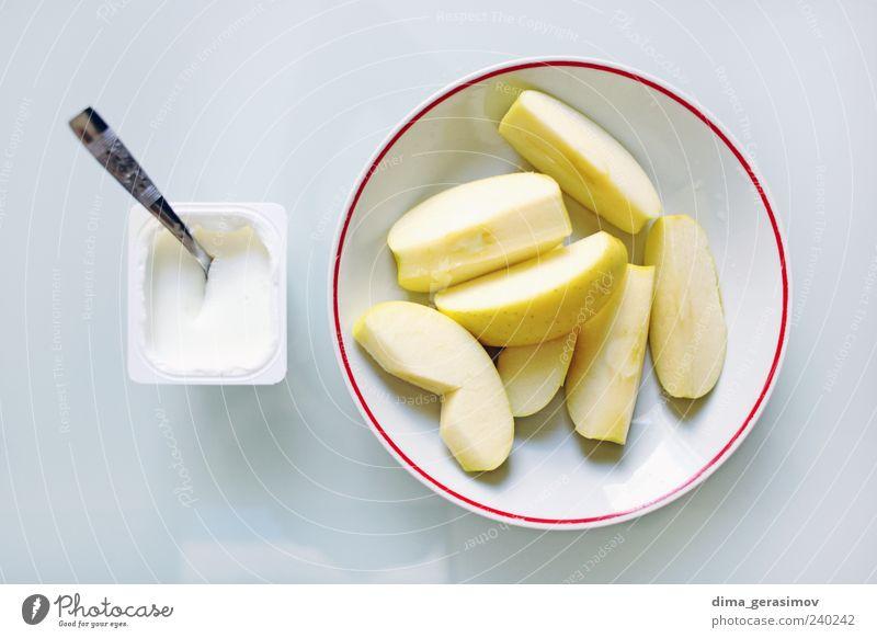 Frühstück Lebensmittel Frucht Vegetarische Ernährung Diät Teller Löffel Gesundheit Farbfoto Innenaufnahme Morgen Tag