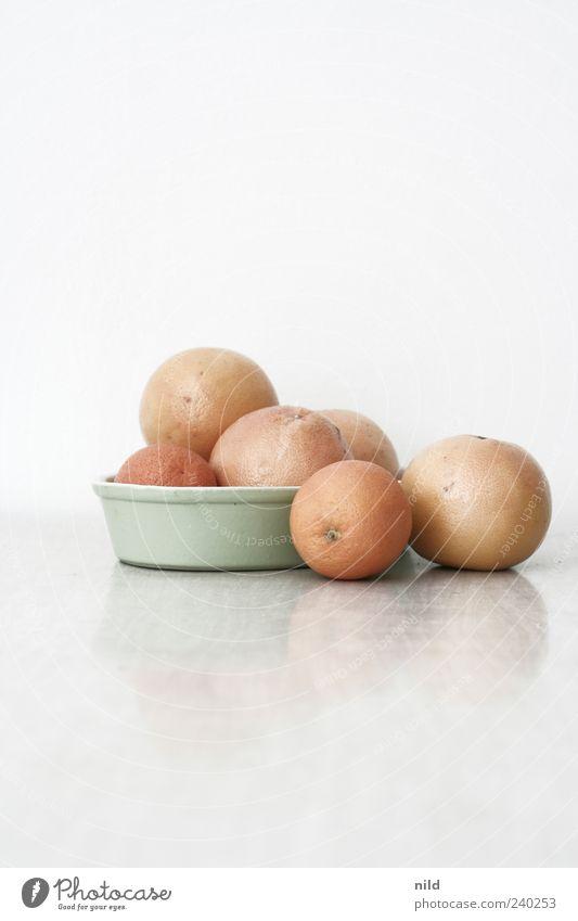 Vitamine Frucht rosa Orange rund Stillleben Vitamin Schalen & Schüsseln Zitrusfrüchte Grapefruit Vor hellem Hintergrund