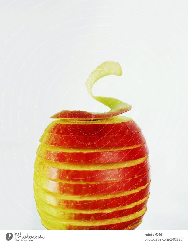 Vitaminstrudel. rot Ernährung Gesundheit Lebensmittel Frucht ästhetisch Apfel außergewöhnlich Kreativität Idee Bioprodukte Spirale Symmetrie geschnitten