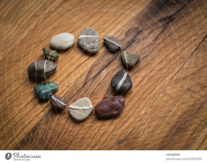 Steinkreis auf altem Holz Design Gesundheit Gesundheitswesen Alternativmedizin Wellness Erholung ruhig Kur Spa Dekoration & Verzierung sprechen Paar Umwelt