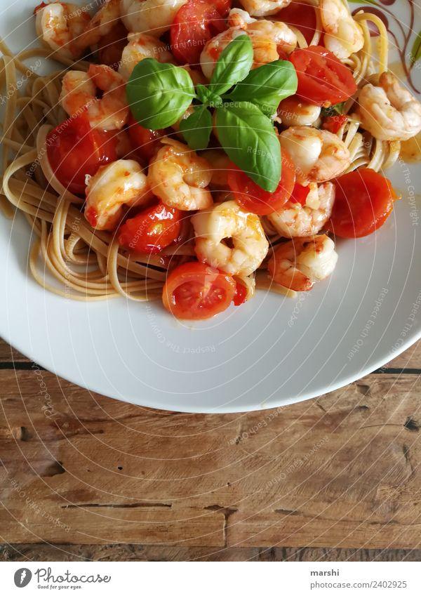 Pasta&Shrimps Lebensmittel Meeresfrüchte Gemüse Teigwaren Backwaren Ernährung Essen Mittagessen Abendessen Geschäftsessen Lifestyle Stimmung Nudeln