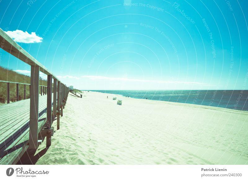 Sommer, Sonne, Sonnenschein schön Erholung Strand Meer Natur Landschaft Sand Himmel Wolken Klima Wetter Schönes Wetter Wärme Wellen Nordsee Insel hell