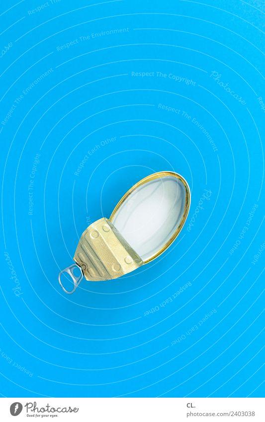 leere konservendose Lebensmittel Fisch Ernährung Diät Fasten Verpackung Dose Konservendose Müll Metall ästhetisch einfach Sauberkeit blau kaufen sparsam