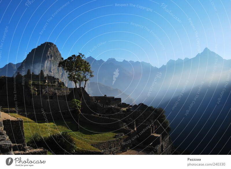 Guten Morgen, Machu Picchu! Natur Ferien & Urlaub & Reisen Erholung Landschaft Berge u. Gebirge Stein Ausflug Tourismus entdecken Ruine Sightseeing Expedition