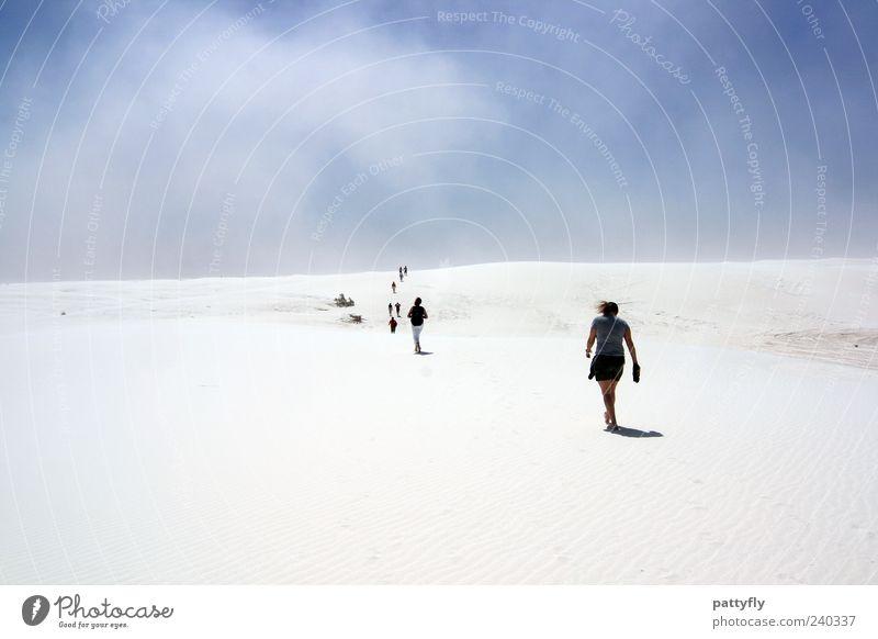Nacheinander... Mensch Natur Himmel Sommer Ferien & Urlaub & Reisen Wolken Menschengruppe Denken Sand Landschaft Stimmung Zusammensein gehen Wind Umwelt laufen