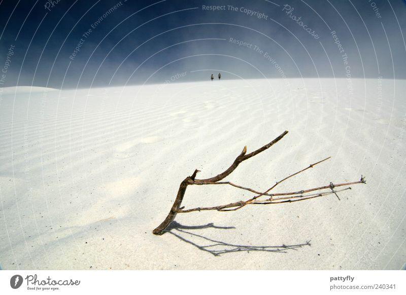 Ab zweig ung Mensch Himmel Natur schön Sommer Erholung Umwelt Landschaft Wege & Pfade Sand Abenteuer Urelemente beobachten Idylle Ziel Vergänglichkeit