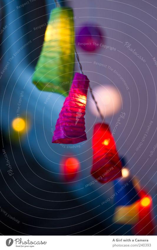 summer nights dream 2 blau grün schön rot gelb Stil außergewöhnlich Design leuchten Dekoration & Verzierung einzigartig violett hängen Lampion Lichterkette
