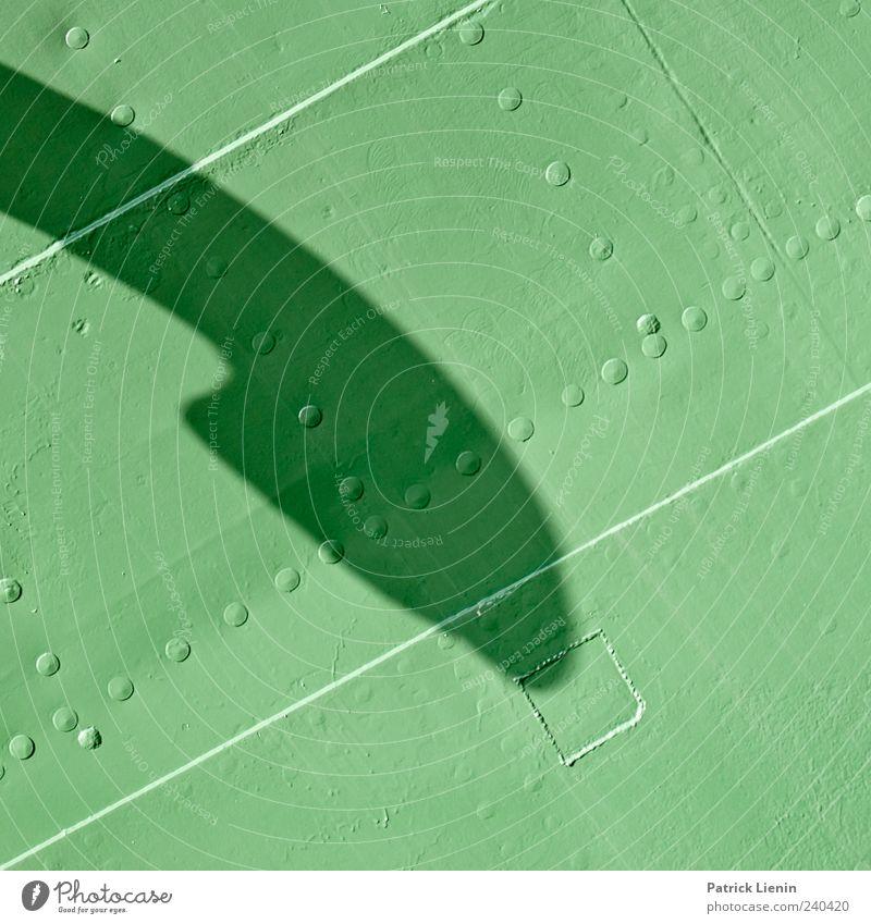 Dinosaurier Maschine Verkehr Schifffahrt Wasserfahrzeug Metall elegant grün entdecken Nieten Linie Farbfoto Gedeckte Farben Außenaufnahme Detailaufnahme