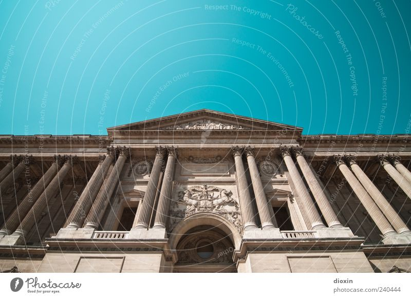 Palais du Louvre (2) Ferien & Urlaub & Reisen Tourismus Sightseeing Städtereise Paris Frankreich Europa Hauptstadt Stadtzentrum Burg oder Schloss Bauwerk