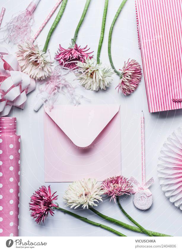 Rosa Umschlag, Blumen und Geschenk Accessoires kaufen Stil Design Dekoration & Verzierung Feste & Feiern Valentinstag Muttertag Hochzeit Geburtstag Blumenstrauß