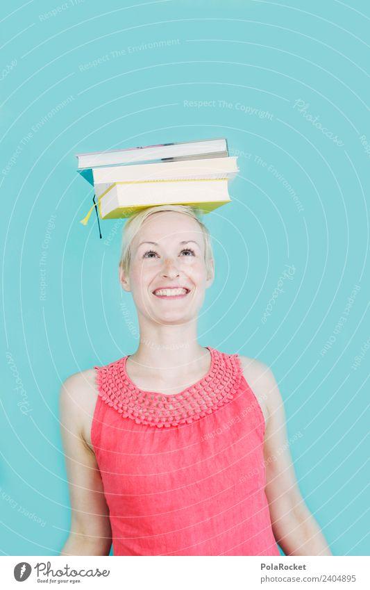 #A4# Wissen und die Frau in Balance mit ihren Büchern Kunst Kunstwerk ästhetisch meistern Bildung Bildungsreise Erwachsenenbildung lernen Schule Gleichgewicht