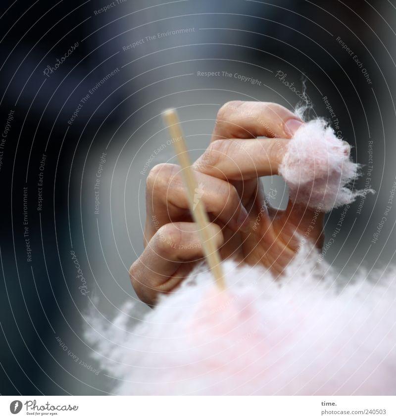 Zuckerpüppchen Hand Ernährung Essen Kindheit Finger süß Kindheitserinnerung Süßwaren Stab Mensch Zuckerwatte