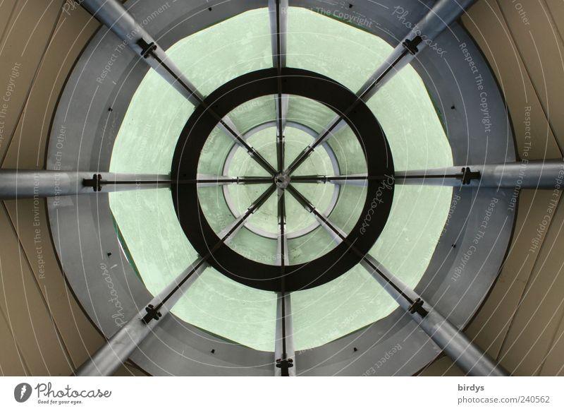 Architektonisches Mandala Architektur Stil ästhetisch Kreis rund Mitte Bauwerk Symmetrie Geometrie kreisrund Froschperspektive Tunnelblick Verstrebung