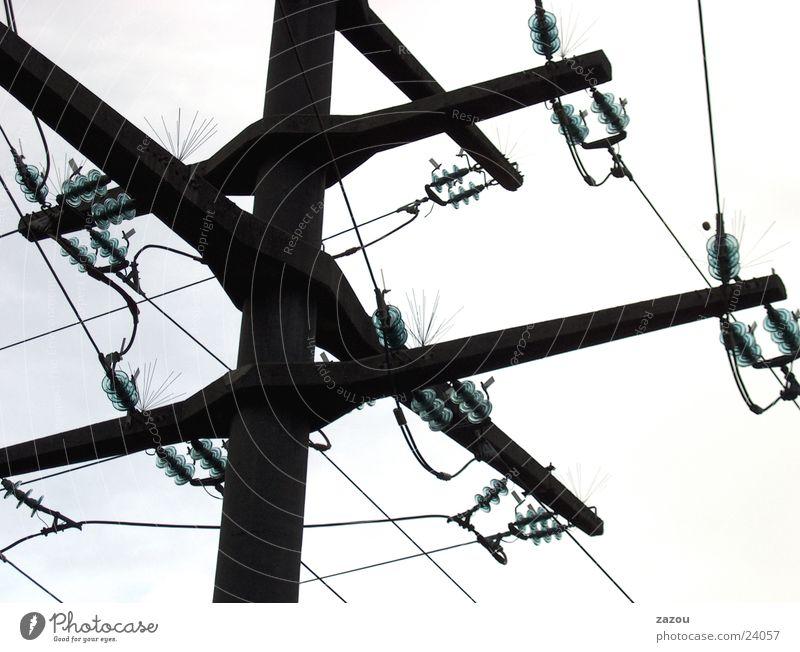 Strom Transport Elektrizität Strommast Kraft Elektrisches Gerät Technik & Technologie Kabel
