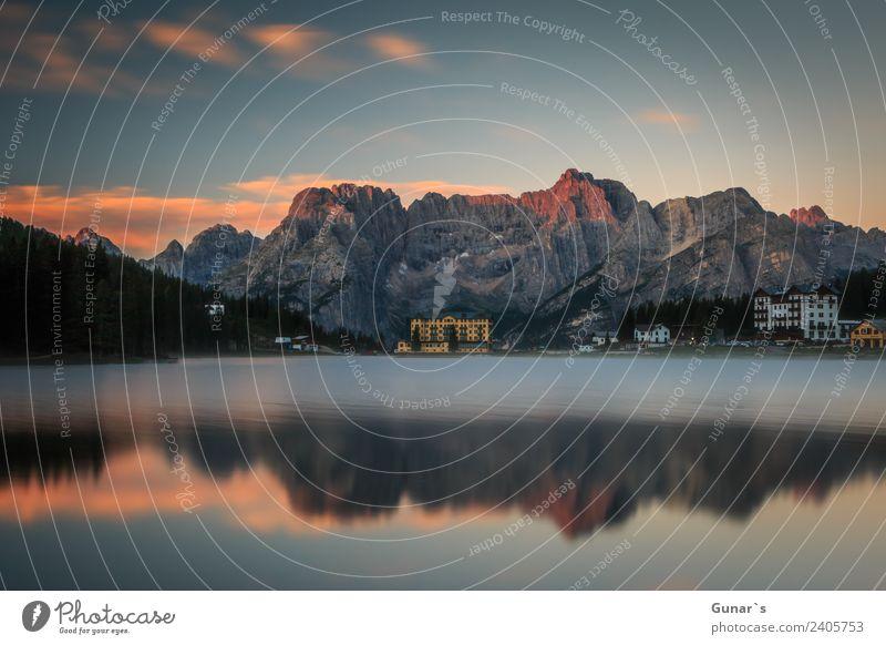 Sonnenaufgang am Misurina See - Cortina d'Ampezzo Erholung Ferien & Urlaub & Reisen Tourismus Ausflug Abenteuer Freiheit Camping Sommerurlaub Berge u. Gebirge