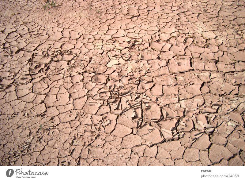 Getrocknete Erde Hintergrundbild Bodenbelag trocken Dürre Schlamm