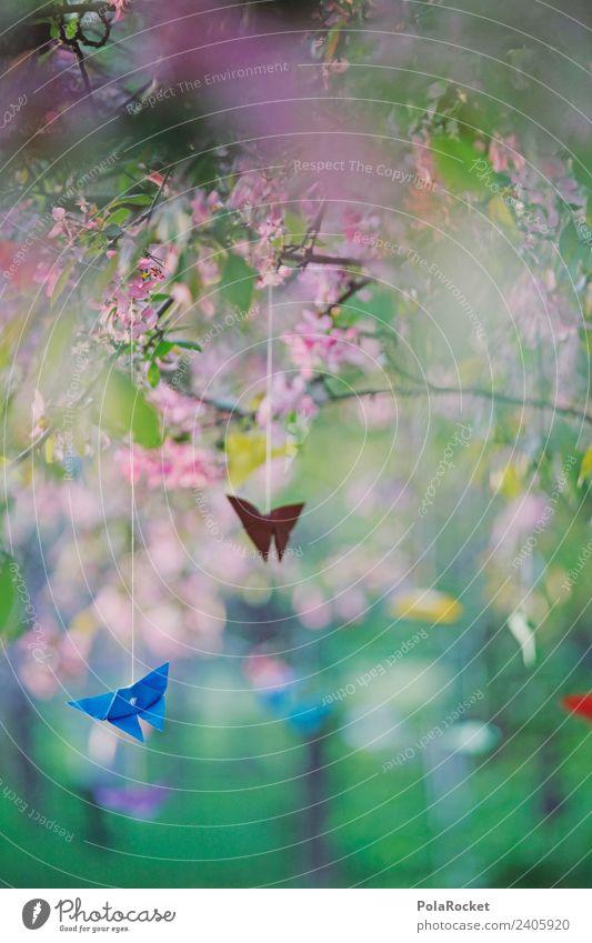 #A# Gehänge Kunst Kunstwerk ästhetisch Duft Luft Wind Windstille Windspiel zart Frühling aufwachen Dekoration & Verzierung Schmetterling gebastelt Farbfoto