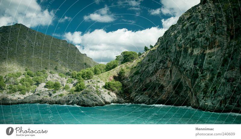 Gegen Burnout! Himmel Natur blau Wasser Ferien & Urlaub & Reisen grün Sommer Meer Einsamkeit Wolken Erholung Landschaft Berge u. Gebirge Küste Stein träumen