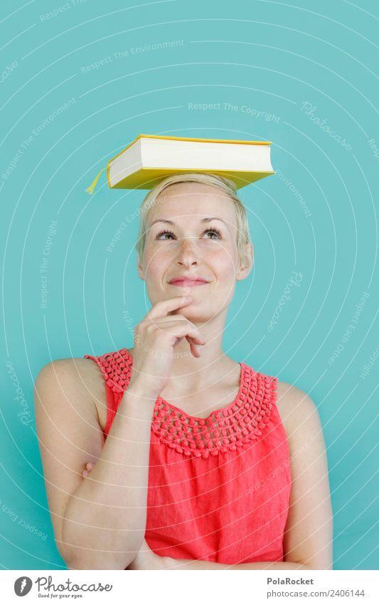 #A4# Frau, Balance und das Buch vom Wissen Kunst Erfahrung Wissenschaften Wissenschaftler Wissenschaftsmuseum Verstand intellektuell Studium Student lernen
