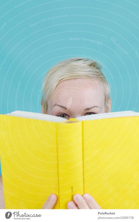 #A# Literarisches Versteck gelb Kunst Spielen ästhetisch lernen Buch beobachten lesen verstecken Kunstwerk Buchseite spionieren Buchladen spielerisch Buchmesse