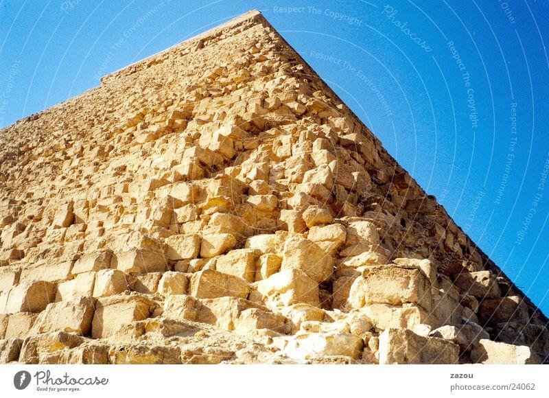Nahaufnahme Pyramide Stein historisch Ägypten Pyramide Gizeh Kairo Pharaonen