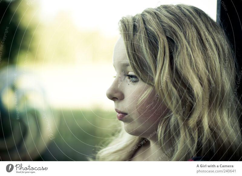 I need to think about things Mensch Jugendliche schön feminin Haare & Frisuren Kopf Denken träumen blond nachdenklich Coolness niedlich einzigartig weich