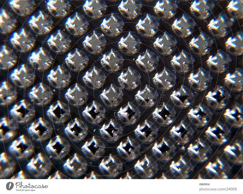 Reibe Muskat Blech Aluminium Küche muskatnussreibe Makroaufnahme Detailaufnahme Metall Anordnung