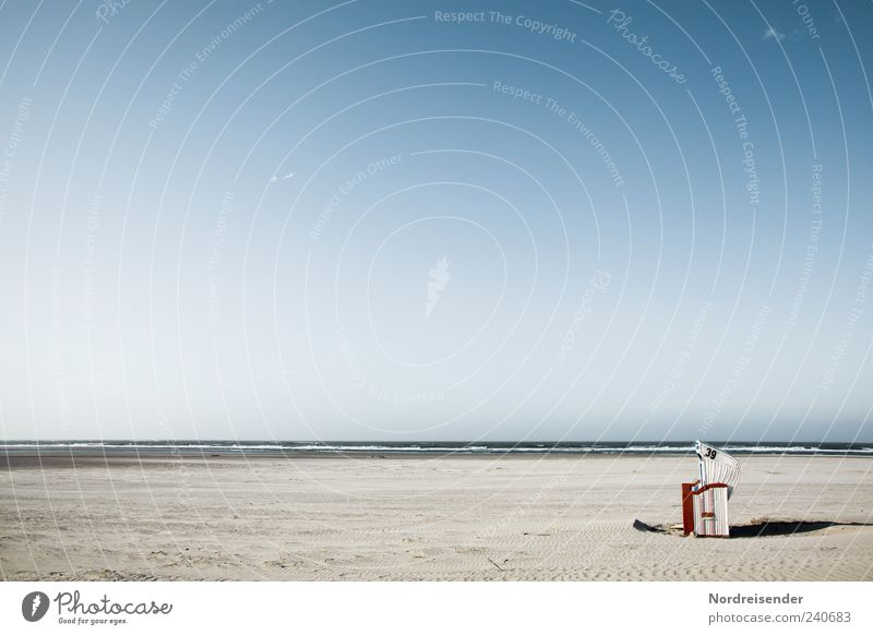Spiekeroog | Alleinstellungsmerkmal Natur Ferien & Urlaub & Reisen Sommer Strand Einsamkeit ruhig Erholung Ferne Landschaft Sand Horizont Stimmung frisch Romantik Schönes Wetter Nordsee