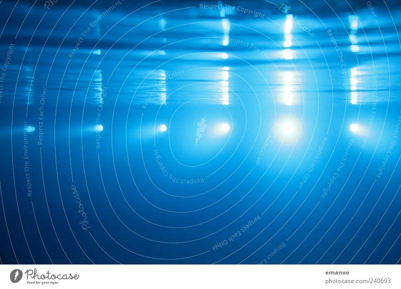 deep blue 1 blau Wasser Meer ruhig Erholung kalt Luft Lampe Linie Beleuchtung Schwimmen & Baden Wellen leuchten Technik & Technologie Schwimmbad tauchen