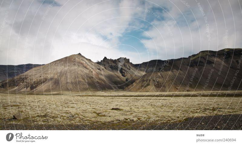 Fleckchen Erde Himmel Natur Wolken Ferne Umwelt Landschaft Berge u. Gebirge Wetter authentisch Island Wolkenhimmel