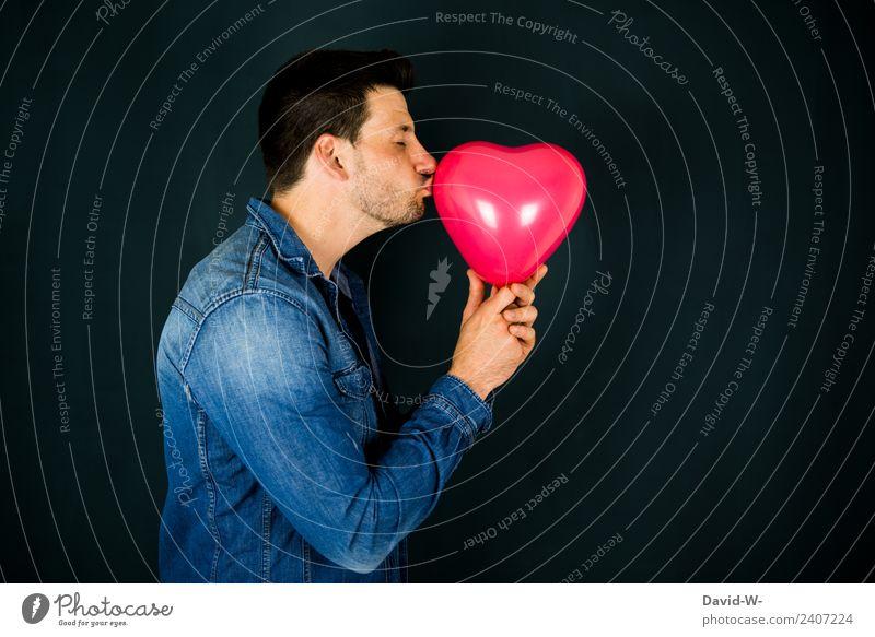 Kuss Lifestyle Leben Valentinstag Muttertag Hochzeit Mensch maskulin Junger Mann Jugendliche Erwachsene Lippen 1 Kunst Künstler Liebe Fröhlichkeit Unendlichkeit