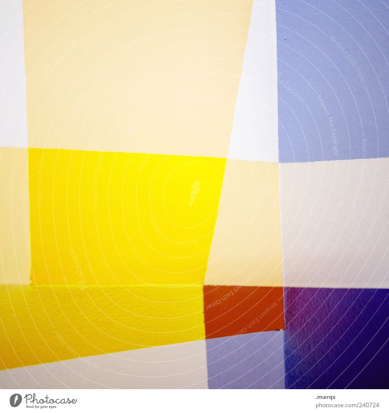 Fold Lifestyle Stil Design Kunst Linie Streifen leuchten außergewöhnlich hell trendy einzigartig verrückt blau mehrfarbig gelb violett rot chaotisch Farbe